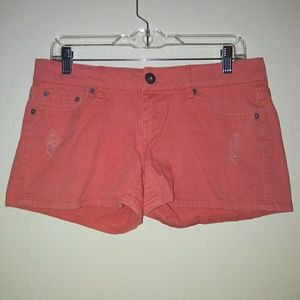 First kiss Womens juniors shorts size 7 orange